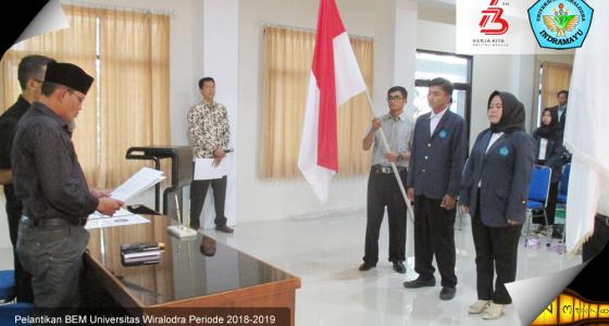 Pelantikan Presiden dan Wakil Presiden BEM Universitas Wiralodra