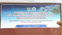 Pengenalan Kehidupan Kampus Mahasiswa Baru (PKKMB) Kelas Sore Universitas Wiralodra
