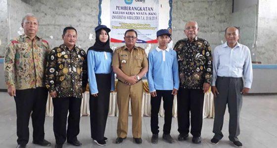 Bupati Indramayu Melepas Mahasiswa KKN Unwir Tahun 2019