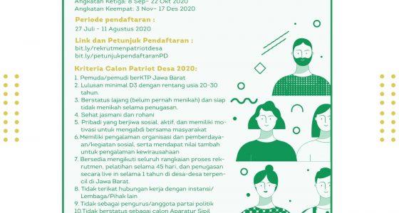 PEMBUKAAN REKRUTMEN PATRIOT DESA 2020