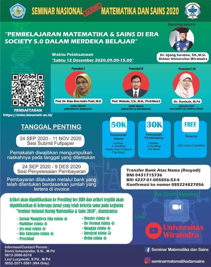 Seminar Nasional Matematika dan Sain