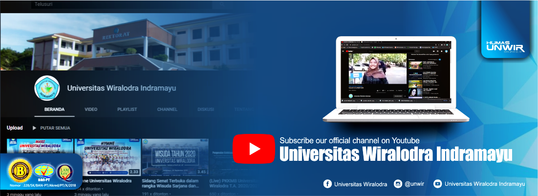 Channel Youtube : Universitas Wiralodra Indramayu
